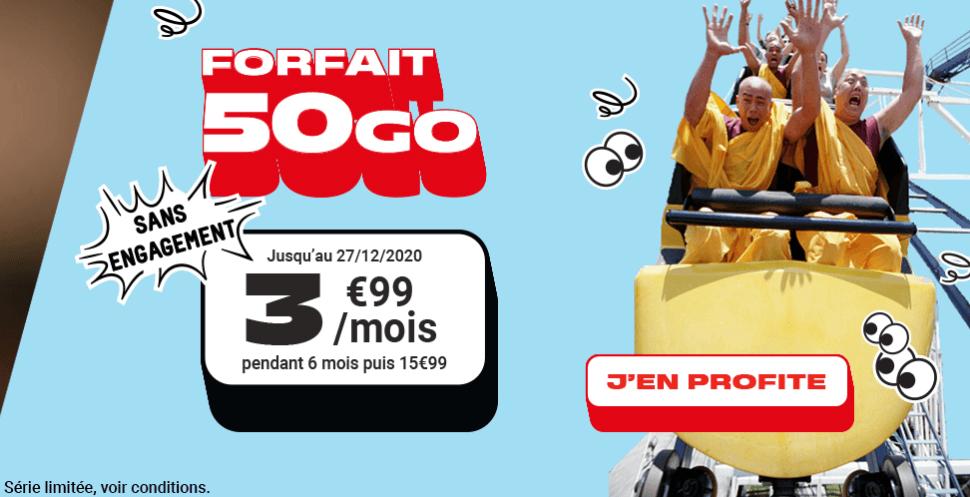 NRJ forfait 50 Go noël.