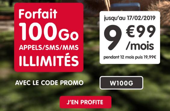 Promotion forfait NRJ mobile riche en 4G avec code promo.