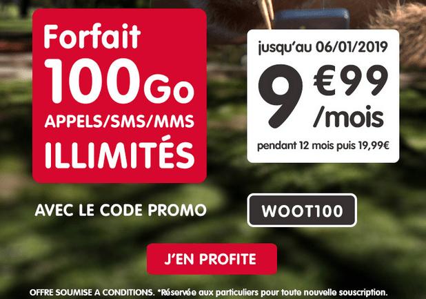 Forfait mobile avec 100 Go de 4G chez NRJ Mobile avec code promo.
