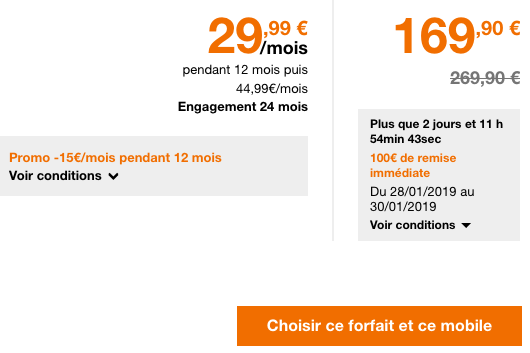 Forfait illimité 50 Go de 4G chez Orange.