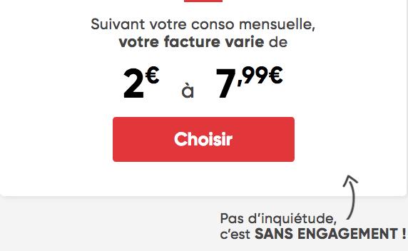 Le forfait mobile adaptable de Prixtel à partir de 2€.