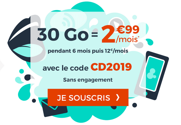 Cdiscount Mobile promotion forfait 4G pas cher.