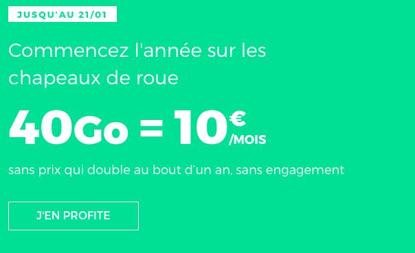 Le forfait RED illimité 40 Go de RED by SFR est en promotion à 10€ par mois.