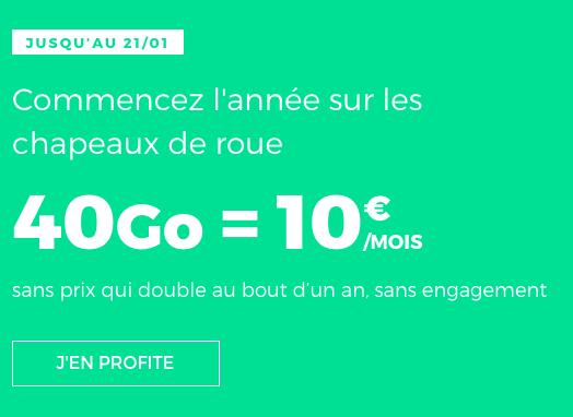 10€ par mois pour 40 Go d'Internet mobile à bas prix chez RED by SFR.