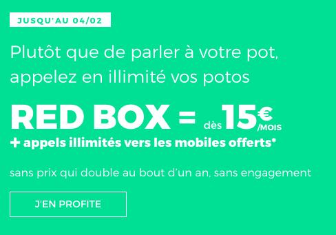 Box internet pas chère, en plus des forfaits illimités pour les soldes de RED by SFR.