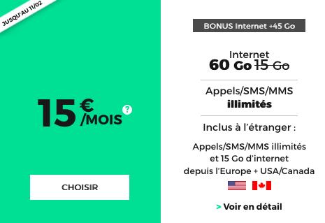 60 Go de 4G chez RED by SFR avec le forfait illimité en promotion.