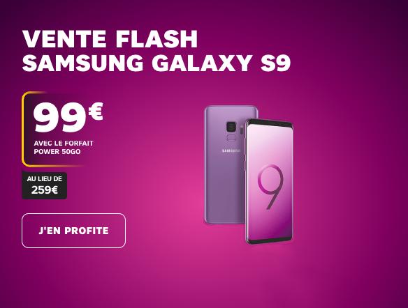 Le Samsung Galaxy S9 en vente flash avec SFR.