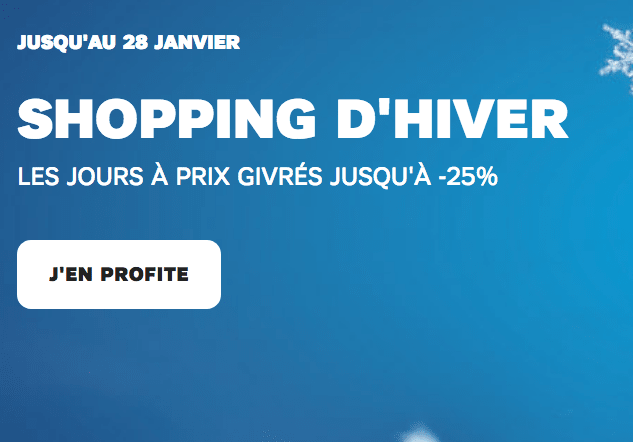 Shopping d'hiver SFR promotion iPhone X