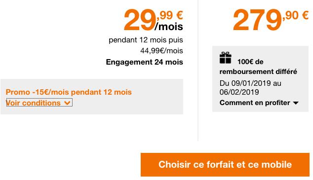 Le forfait illimité avec 50 Go de 4G chez Orange pour le Sony Xperia XZ3 pas cher.