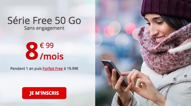 Le forfait 50 Go de Free.