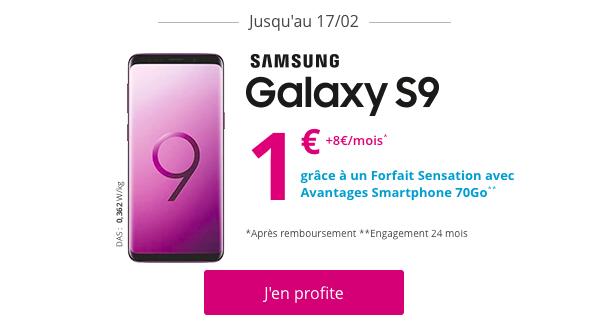 Le Samsung Galaxy S9 avec Bouygues Telecom.