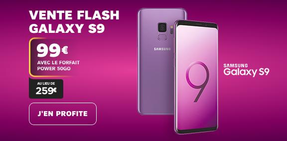 La vente flash de SFR sur le Samsung Galaxy S9.