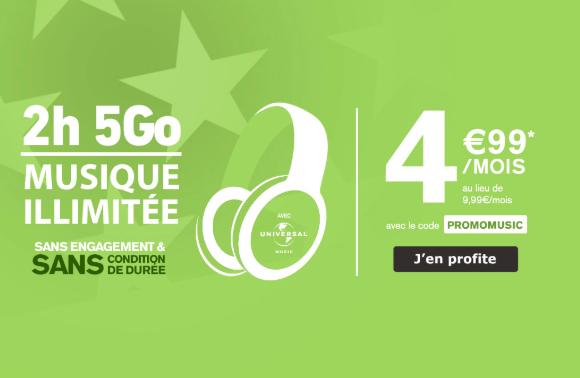 Le forfait 5 Go de La Poste Mobile.
