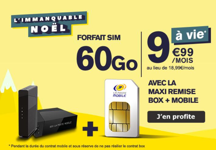 Le forfait 60 Go de La Poste Mobile.