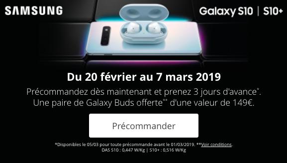 Les précommandes de Bouygues Telecom sur le Samsung Galaxy S10