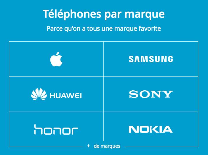 Choisir son smartphone avec Bouygues Telecom.