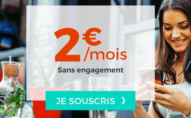 Cdiscount Mobile forfait pas cher à 2€ par mois.