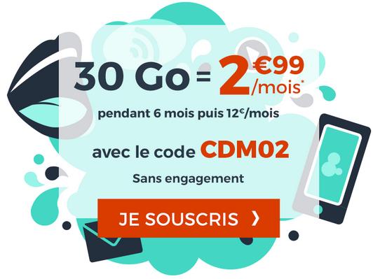 Cdiscount Mobile propose un forfait pas cher avec 30 Go de 4G.