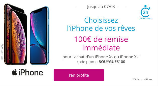 Code promo iPhone Bouygues
