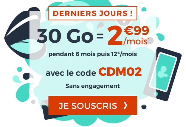 Cdiscount Mobile promotion forfait illimité avec code promo.