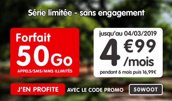 Le forfait 4G à 4,99€ de NRJ Mobile.