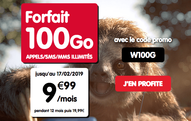 Forfait mobile NRJ mobile en promotion avec 100 Go de 4G.