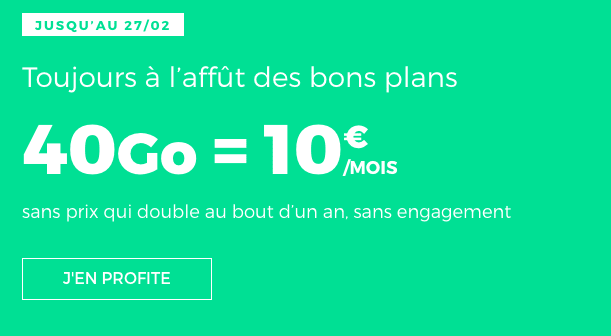 Forfait mobile 4G en promotion chez RED by SFR.