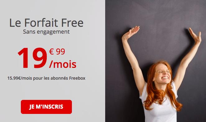 Le forfait Free 100 Go.