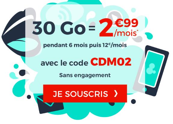 Le forfait illimité Cdiscount Mobile à 2,99€/mois.