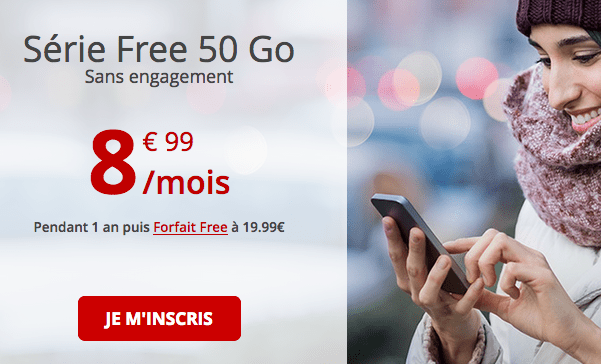 Free forfait 4G pas cher avec samsung galaxy S10.