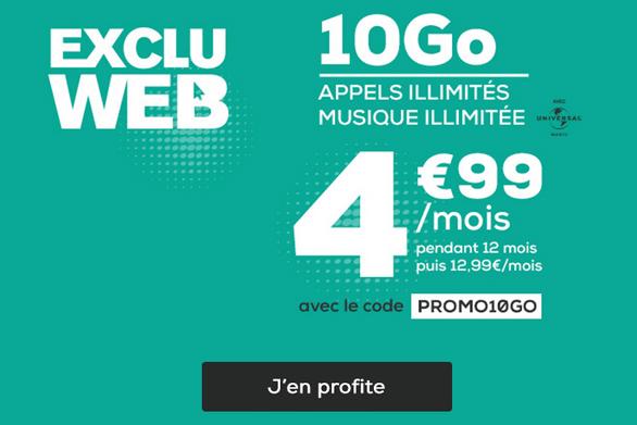 Promotion forfait mobile pas cher La Poste Mobile code promo.