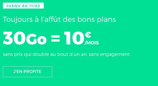 RED by SFR forfait 4G à 10€/mois à vie.