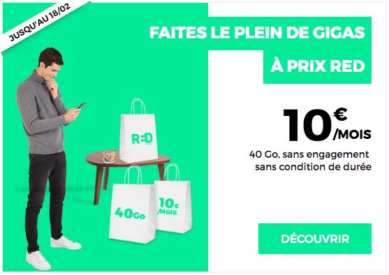 Le forfait mobile à 10€ de RED by SFR.