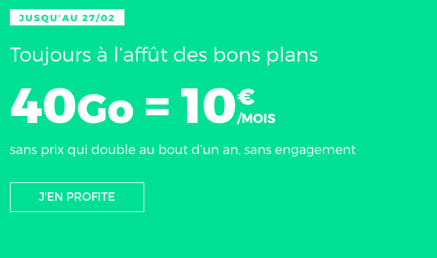 Promotion forfait sans engagement RED by SFR.