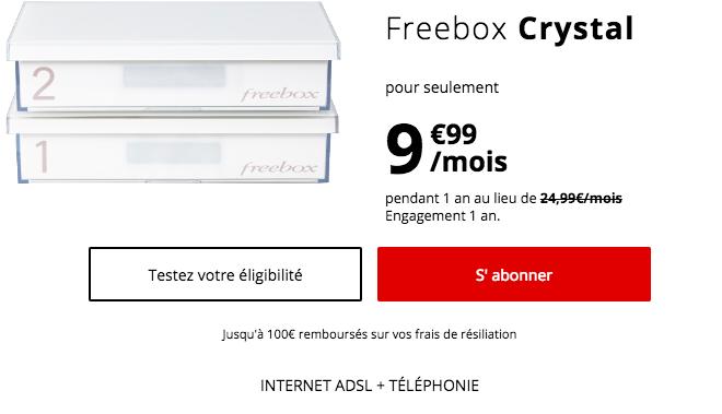 La Freebox Crystal en promotion.