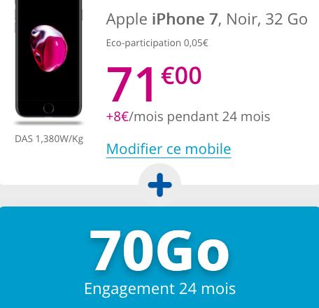 iPhone à 1€avec un forfait illimité de Bouygues Telecom.