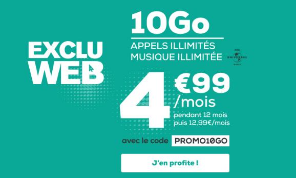 Forfait mobile illimité La Poste Mobile promotion.
