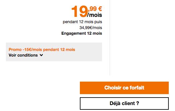 Orange propose un forfait mobile avec 50 Go de data en promo.