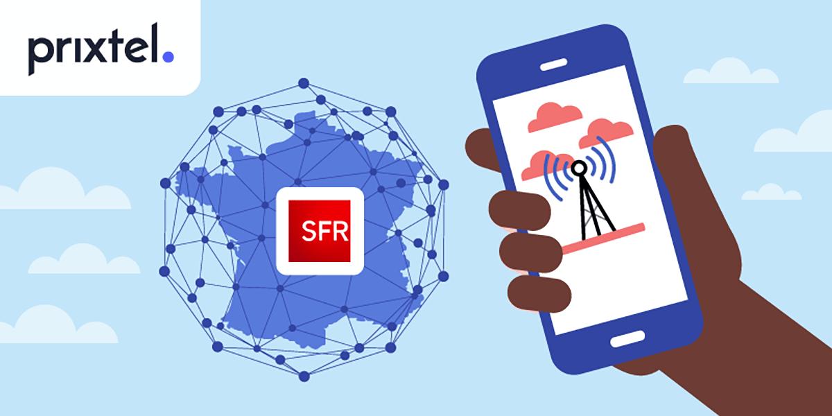Le réseau SFR avec Prixtel