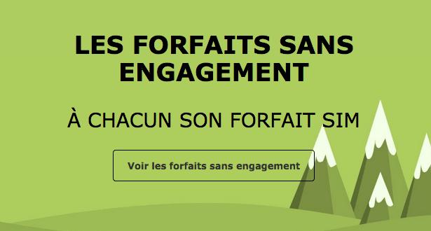 Promotion forfait mobile sans engagement La Poste Mobile.