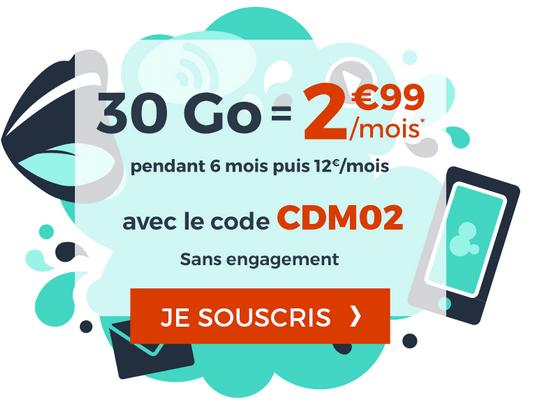 Promotion forfait mobile sans engagement cdiscount mobile.