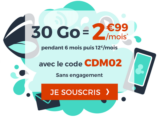 Promotion forfait mobile Cdiscount Mobile.