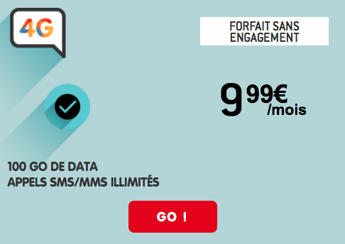 Forfait 4G pas cher NRJ Mobile.