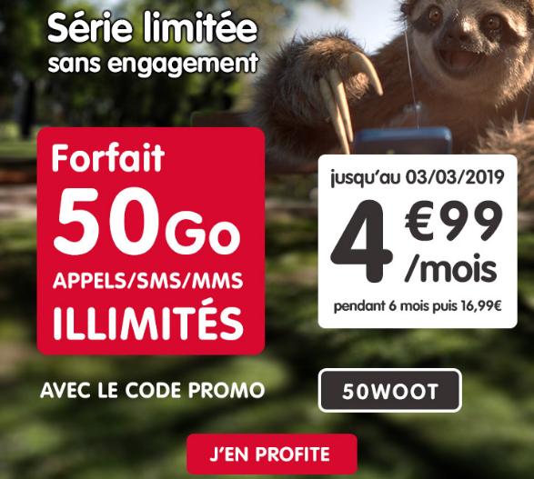 50 Go de 4G aec le forfait mobile de NRJ mobile en promotion