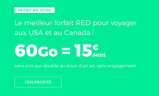 Le forfait 60 Go de RED by SFR.