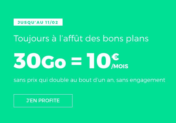 L'offre promo de RED by SFR pour un forfait pas cher et à vie.