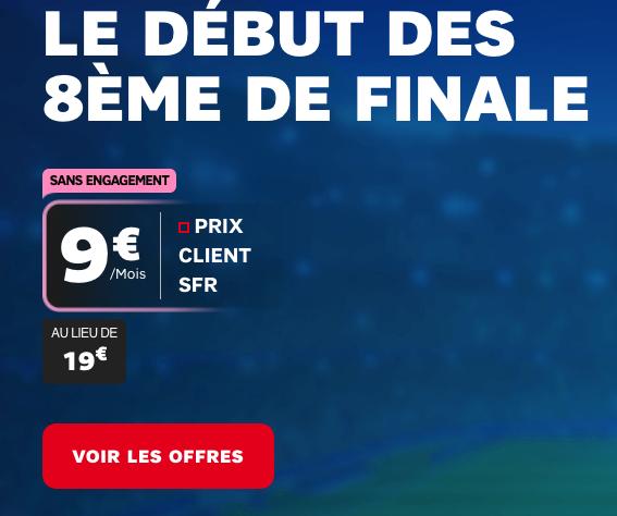 RMC Sport à bas prix pour la Ligue des Champions avec un forfait pas cher de SFR.