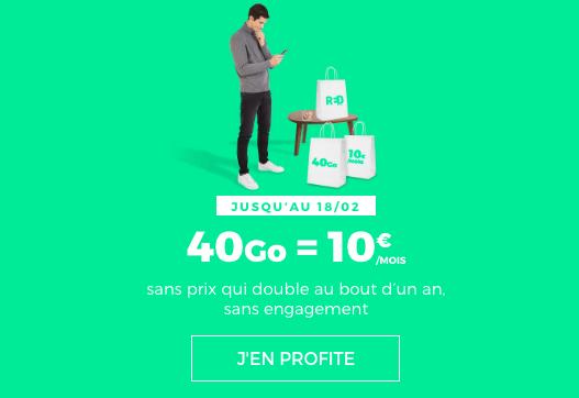 Le forfait sans engagement de RED by SFR.