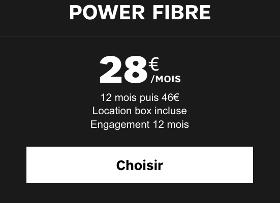 Box internet Power de SFR à petit prix, pour abaisser le coût du forfait mobile et de l'iPhone 6s en promotion.
