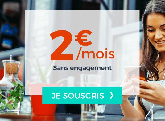 2€pour un forfait pas cher et sans engagement chez Cdiscount Mobile.